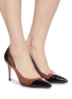GIANVITO ROSSI Plexi PVC拼接漆皮高跟鞋