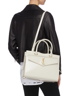 SAINT LAURENT Uptown品牌标志牛皮手提包