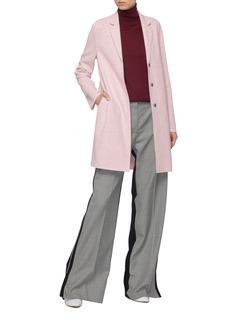 Harris Wharf London 混初剪羊毛马裤呢茧型大衣