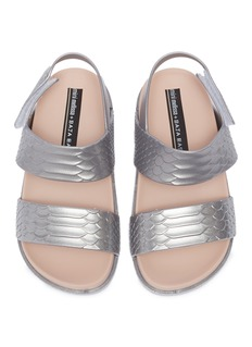 MELISSA x Baja East Cosmic Python幼儿款蟒蛇纹PVC搭带凉鞋