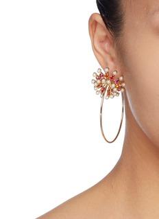 ANTON HEUNIS 人造珍珠及仿水晶圆形耳环