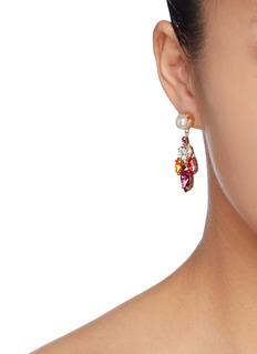 ANTON HEUNIS Harlquin人造珍珠及仿水晶吊坠耳环