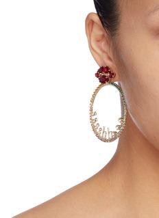 ANTON HEUNIS 可拆式圆环仿水晶嘴唇造型耳环