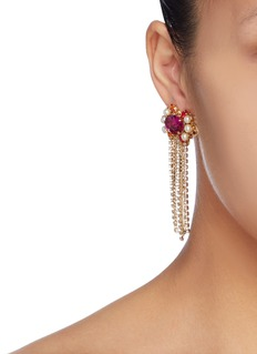 ANTON HEUNIS 人造珍珠及仿水晶流苏耳环
