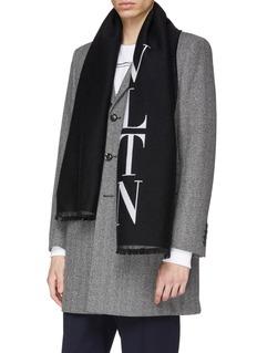 Valentino VLTN羊毛混丝围巾