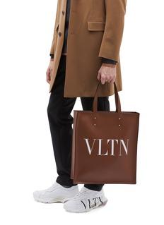 Valentino VLTN英文字真皮托特包