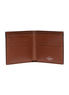 Valentino VLTN品牌名称真皮折叠钱包