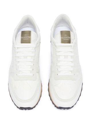 细节 - 点击放大 - Valentino - Camouflage Rockrunner铆钉点缀拼接设计迷彩运动鞋