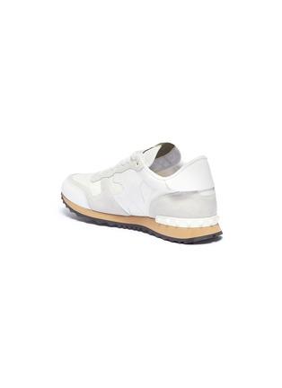- Valentino - Camouflage Rockrunner铆钉点缀拼接设计迷彩运动鞋