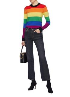 Sonia Rykiel Saint-Germain纯棉水洗露踝喇叭牛仔裤