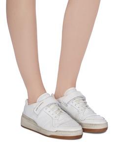 SAINT LAURENT SL24做旧感网眼小牛皮运动鞋