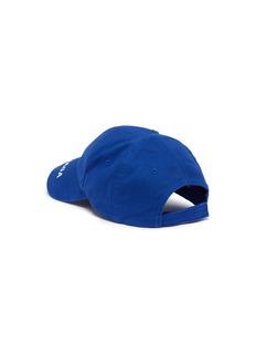 Balenciaga Everyday品牌名称刺绣斜纹布棒球帽