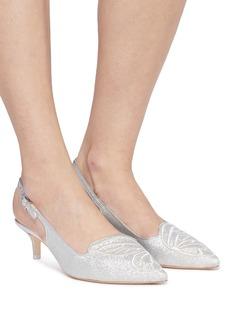 Sophia Webster Bibi Butterfly蝴蝶翅膀刺绣闪粉露跟鞋