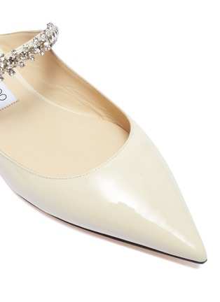 细节 - 点击放大 - Jimmy Choo - Bing仿水晶搭带漆皮露跟平底鞋