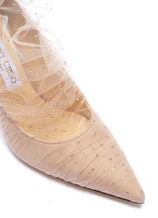 细节 - 点击放大 - Jimmy Choo - Lavish闪粉薄纱绒面真皮高跟鞋