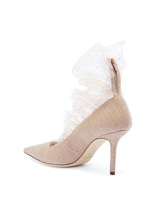 - Jimmy Choo - Lavish闪粉薄纱绒面真皮高跟鞋
