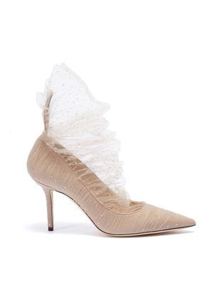 首图 - 点击放大 - Jimmy Choo - Lavish闪粉薄纱绒面真皮高跟鞋