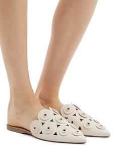 Mercedes Castillo Portia圆形缀饰几何镂空穆勒拖鞋