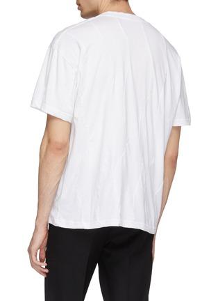 背面 - 点击放大 - Martine Rose - 拼接效果logo印花T恤