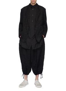 Yohji Yamamoto 皱感斜纹布西服夹克