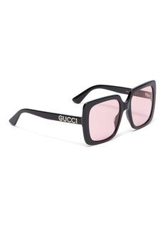 Gucci oversize板材方框太阳眼镜