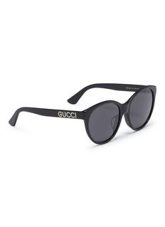 Gucci 仿水晶品牌名称板材太阳眼镜