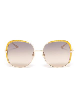 首图 - 点击放大 - Gucci - 拼色围边金属方框太阳眼镜