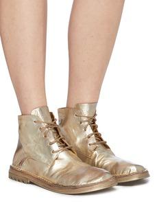 Marsèll Fungaccio皱感真皮系带短靴