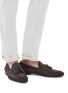 MAGNANNI 流苏装饰绒面真皮乐福鞋