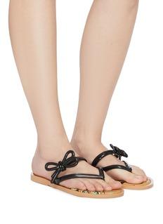 Melissa x Jason Wu花卉蝴蝶结果冻人字拖鞋