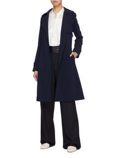 THEORY Oaklane腰带绉绸风衣