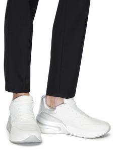 Alexander McQueen 金属感拼接真皮厚底运动鞋