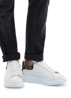 Alexander McQueen Larry铆钉点缀真皮厚底运动鞋