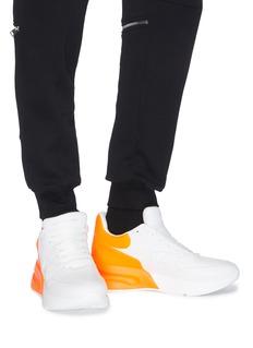 Alexander McQueen 拼色真皮厚底运动鞋