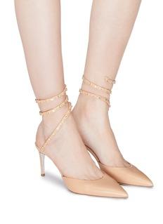 RENÉ CAOVILLA Cleo Borchia仿水晶绕踝绊带小牛皮高跟鞋
