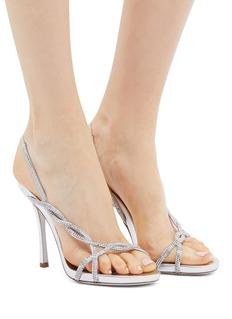 René Caovilla 仿水晶搭带高跟凉鞋