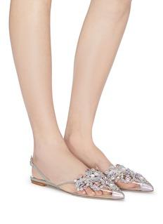 RENÉ CAOVILLA Veneziana仿水晶镂空刺绣PVC露跟鞋
