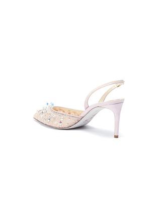 - René Caovilla - 仿水晶蕾丝露跟鞋