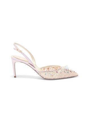 首图 - 点击放大 - René Caovilla - 仿水晶蕾丝露跟鞋
