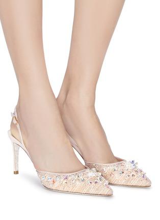 模特儿示范图 - 点击放大 - RENÉ CAOVILLA - 仿水晶蕾丝露跟鞋