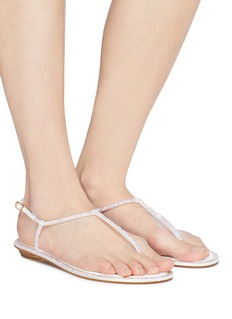 RENÉ CAOVILLA Diana幻彩仿水晶缎面夹脚凉鞋