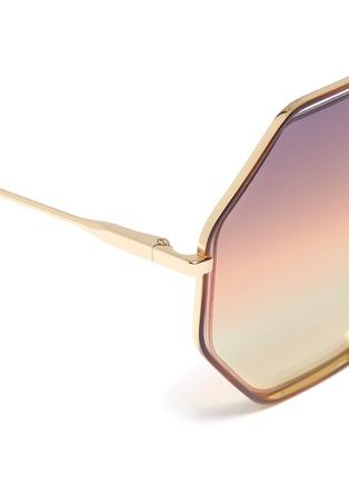 细节 - 点击放大 - CHLOÉ - Poppy金属几何框镂空渐变太阳眼镜