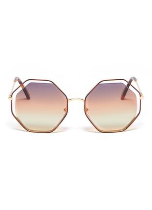 首图 - 点击放大 - CHLOÉ - Poppy金属几何框镂空渐变太阳眼镜