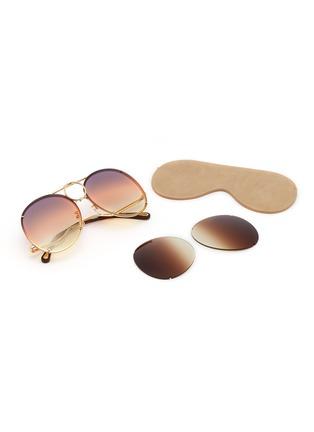 细节 - 点击放大 - CHLOÉ - Vicky可替换渐变镜片飞行员太阳眼镜