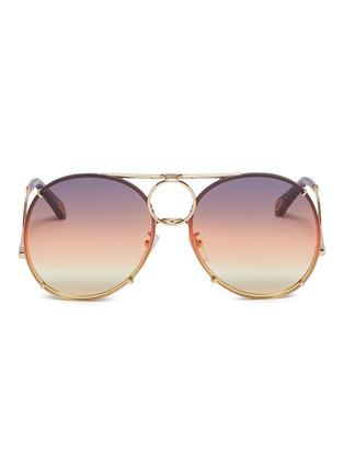 首图 - 点击放大 - CHLOÉ - Vicky可替换渐变镜片飞行员太阳眼镜