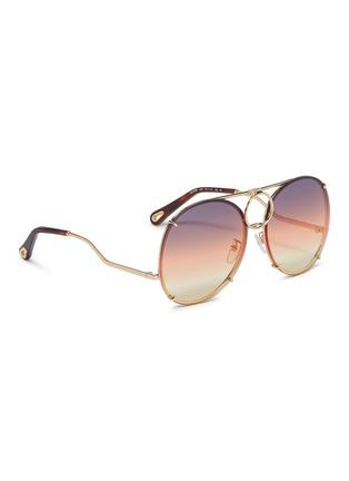 模特儿示范图 - 点击放大 - CHLOÉ - Vicky可替换渐变镜片飞行员太阳眼镜