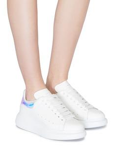 Alexander McQueen Larry幻彩拼接真皮oversize厚底运动鞋