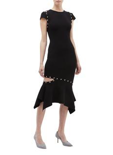 alice + olivia Ameera铆钉点缀挖剪镂空连衣裙