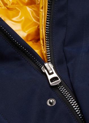- 49Winters - The Utility Brompton可拆式设计银狐毛边饰拼色羽绒夹克