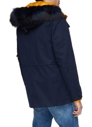 背面 - 点击放大 - 49Winters - The Utility Brompton可拆式设计银狐毛边饰拼色羽绒夹克